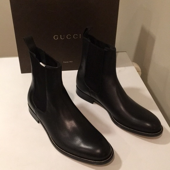 599b78be286 New Gucci Cork black leather boots Sz 14 ❤ 🇮🇹❤️